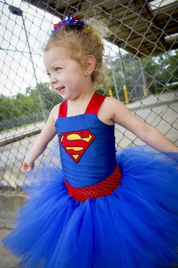 Superman Costume Superman Tutu Dress Satin by TutullyCuteDesigns, $65.00