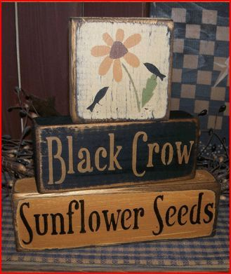 Hey, I found this really awesome Etsy listing at https://www.etsy.com/listing/128713887/black-crow-sunflower-seeds-primitive