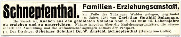 Original-Werbung/ Anzeige 1915 - SCHNEPFENTHAL (HERZOGTUM GOTHA) - ca. 115 x 20 mm