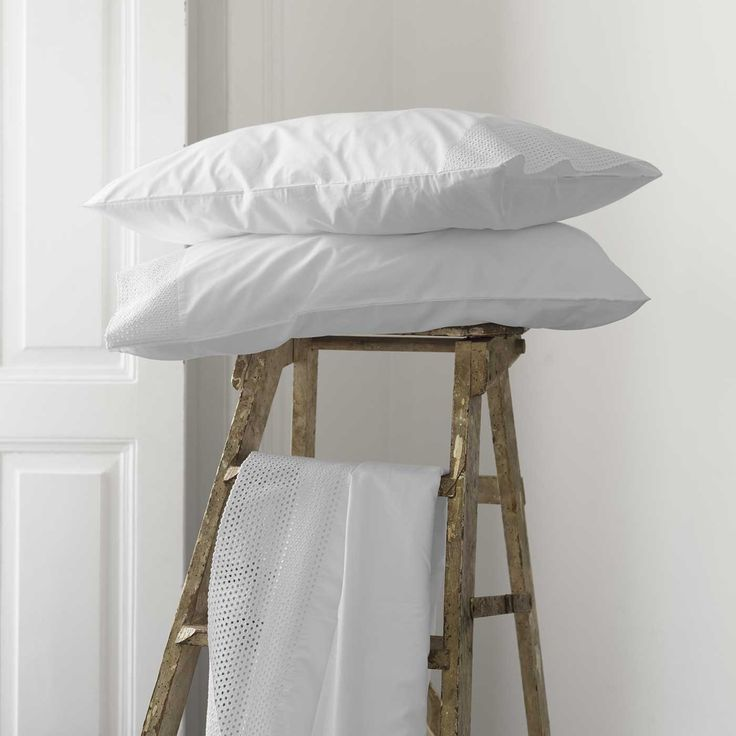 Clean, crisp Pearl pillowcases.