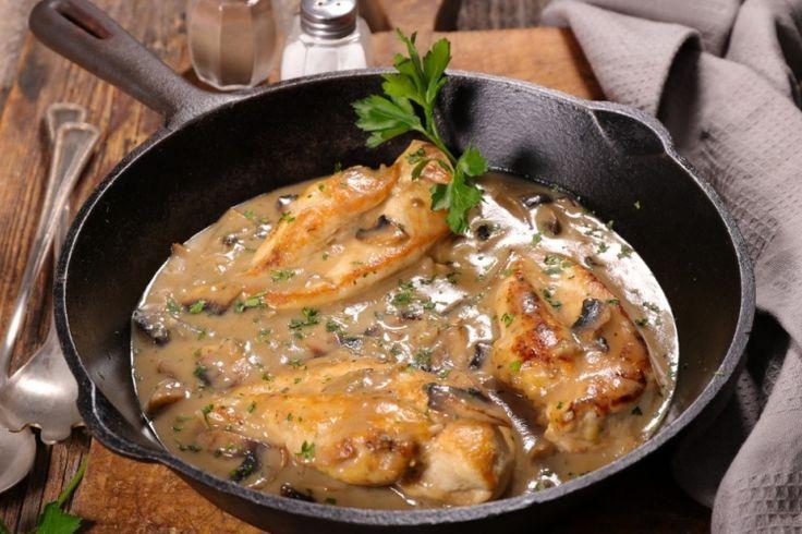 Casserole de poulet aux champignons