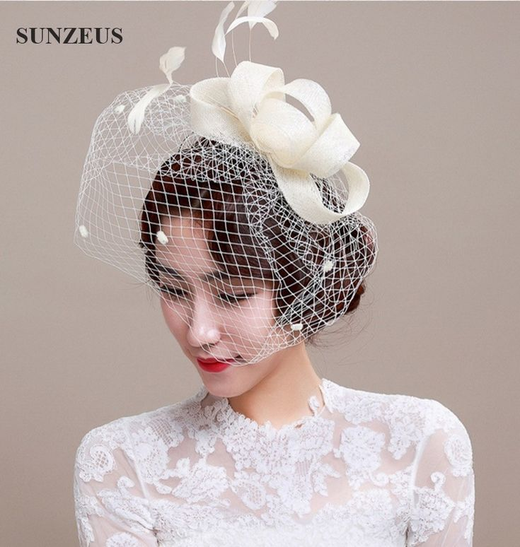 Hot Sale Ivory Vintage Wedding Hat Western Country Style Hand-made Bridal Head Accessories SQ002