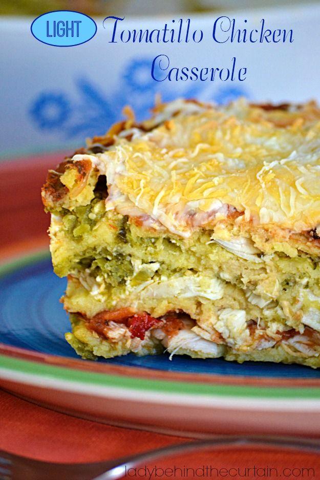 Light Tomatillo Chicken Casserole