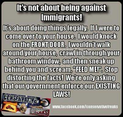 I need a thesis statement about against illegal immigration?