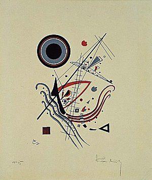 'bleu', lithographie de Wassily Kandinsky (1866-1944, Russia)                                                                                                                                                      Plus