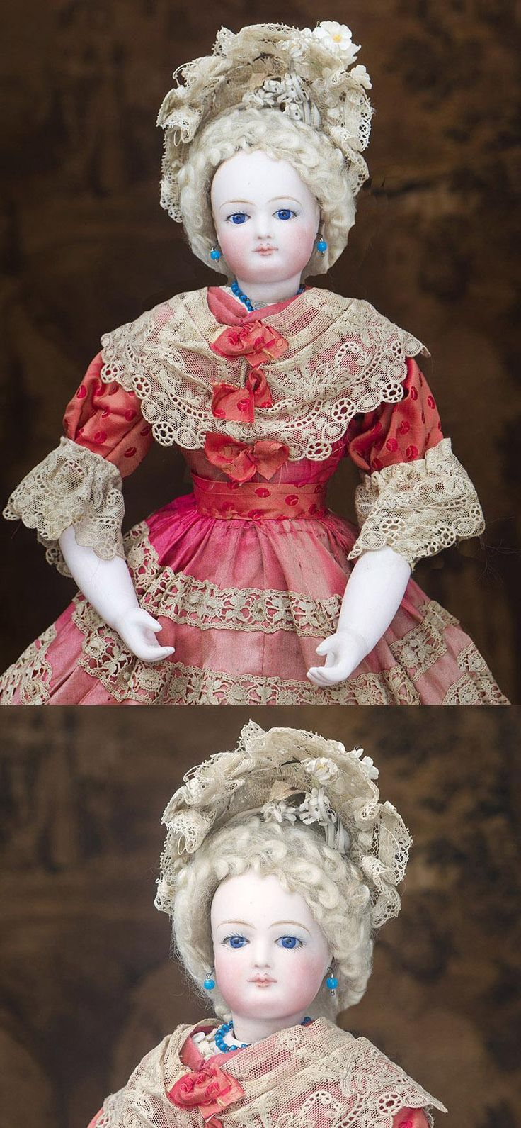 18in Very Beautiful Antique French Fashion Gaultier Doll with rare from respectfulbear on Ruby Lane