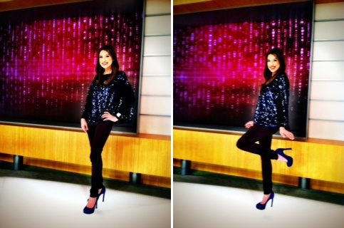 Sparkle this holiday season in the #VTLuxe All Over Sequin Capelet just like @Courtney Cason does! @QVC