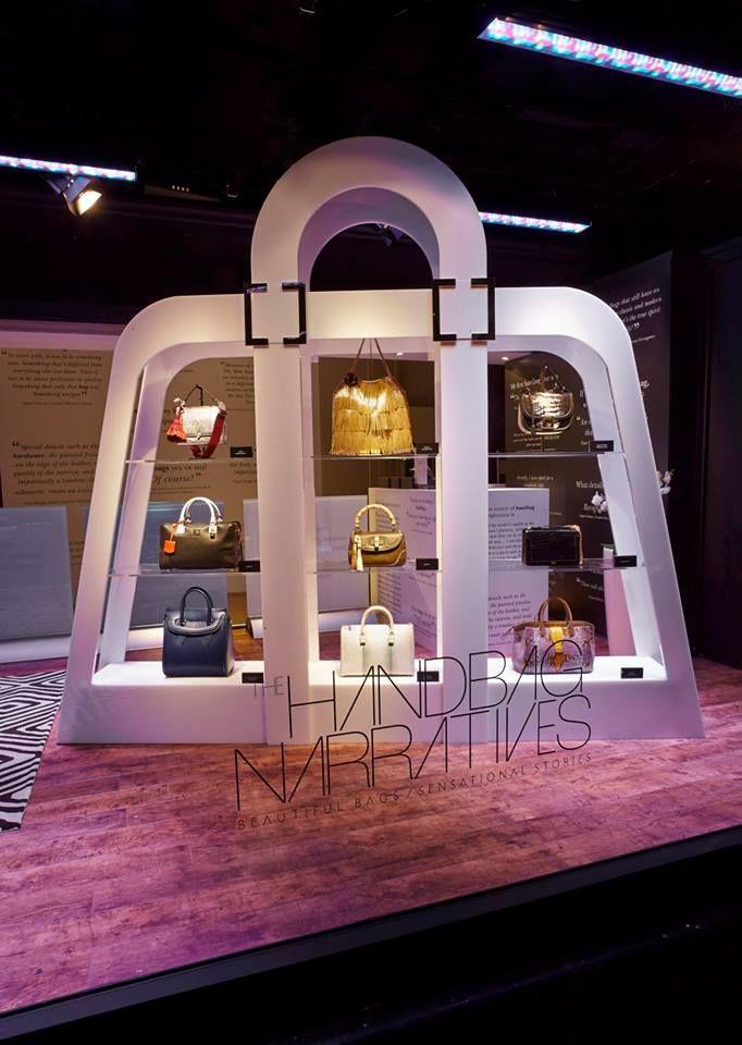 Pop Up Shop Design / Retail Design / Semi Permanent Retail Fixtures / VM / Retail Display / THE HANDBAG NARRATIVES POP UP SHOP AT HARRODS
