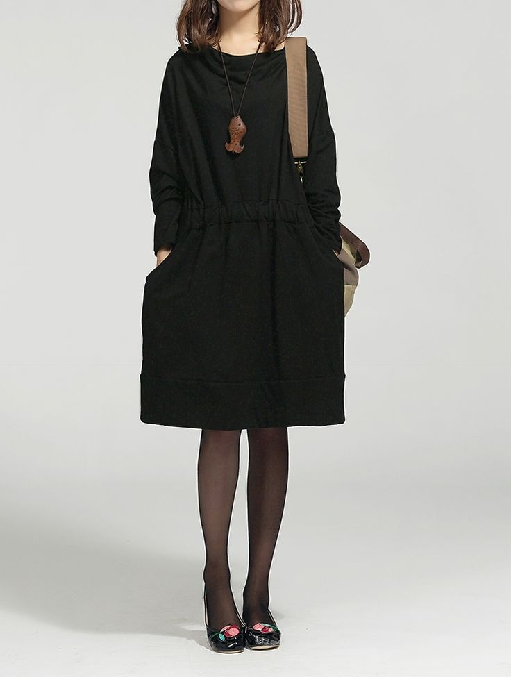Aliexpress.com: Купить 2014 осень и зима женщин широкий цельный платье Большой размер женские платья мода осень зима женской одежде белье DressC106 из надежных льняные брюки для женщин поставщиков на HK MEETING OF SEA TRADING CO.,LIMITED.