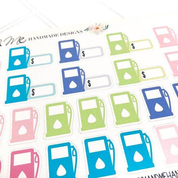 Gas//Fuel Planner Stickers//Erin Condren Stickers//Happy Planner