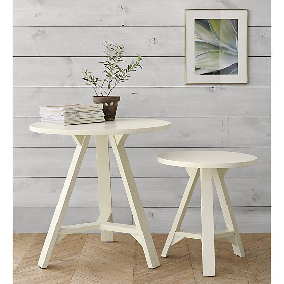 Mackinaw Small Accent Table | Crate and Barrel - small accent table for next to chair in Master