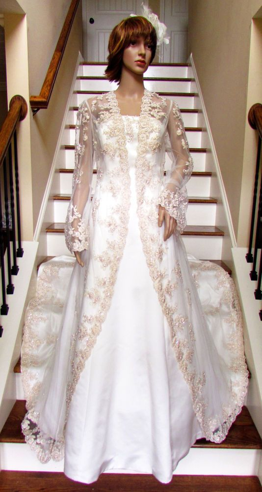 Details About David S Bridal Nwt Lace Wedding Dress With