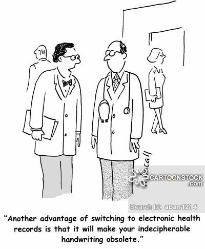 Electronic Health Records cartoons, Electronic Health Records cartoon, funny…