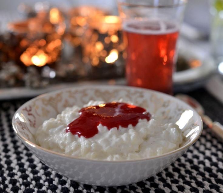 Verdens beste hjemmelaget riskrem med rød saus