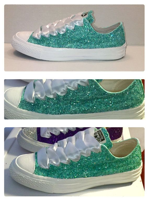 037219138f59 ... shoes fdfea 0ee42 czech womens something mint green teal sparkly  glitter converse 10 off with code pinned10 crystalcleatss b2df0 ...