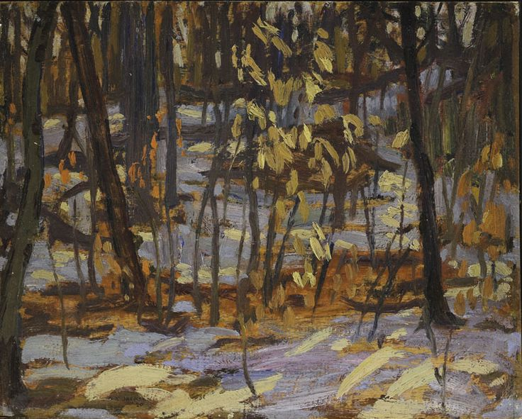 A.Y. Jackson (1882 - 1974), Early Spring, 1920, oil on split wood panel adhered to plywood, 21.2 x 26.5 cm, Gift of Mr. S. Walter Stewart, 1968.8.2