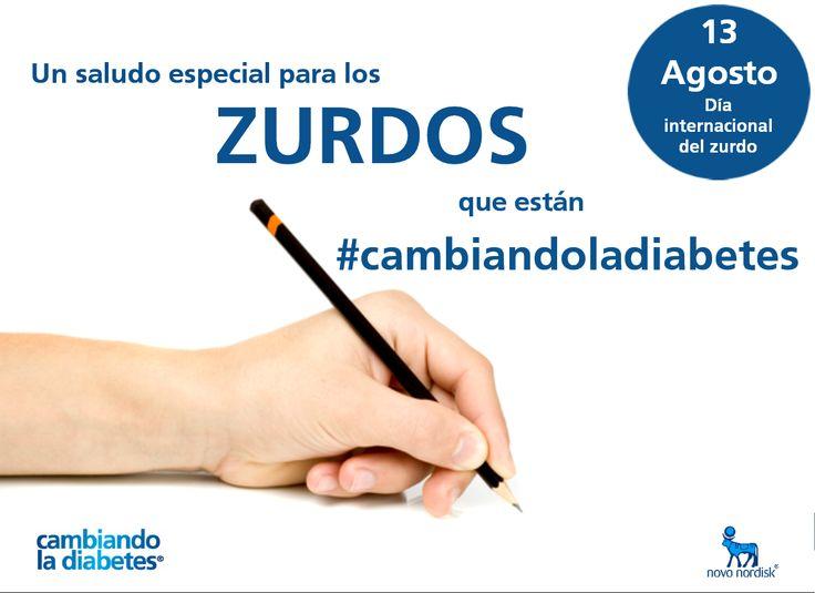 Hoy miércoles 13 de Agosto se celebra el #DíaInternacionalDelZurdo. Saludamos a los miembros de nuestra comunidad que están #cambiandoladiabetes desde el lado izquierdo.