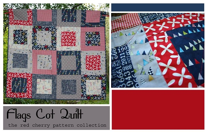Flag Cot Quilt - by redcherrypatternco on madeit