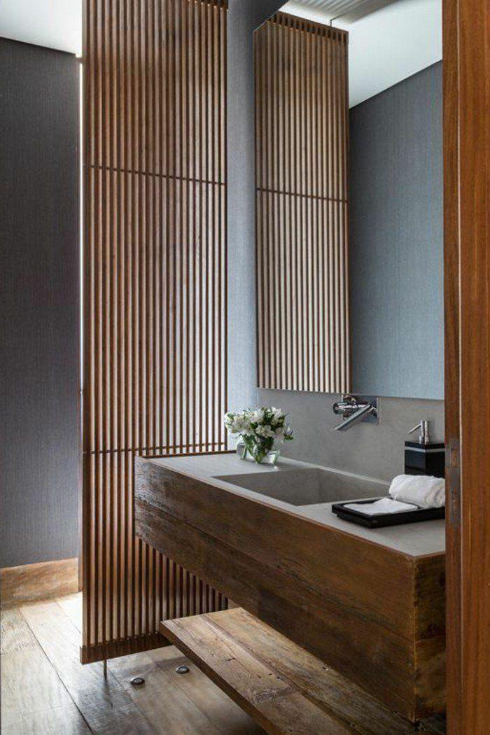Les 25 meilleures id es concernant salle de bain en bambou for Salle de bain zen bambou