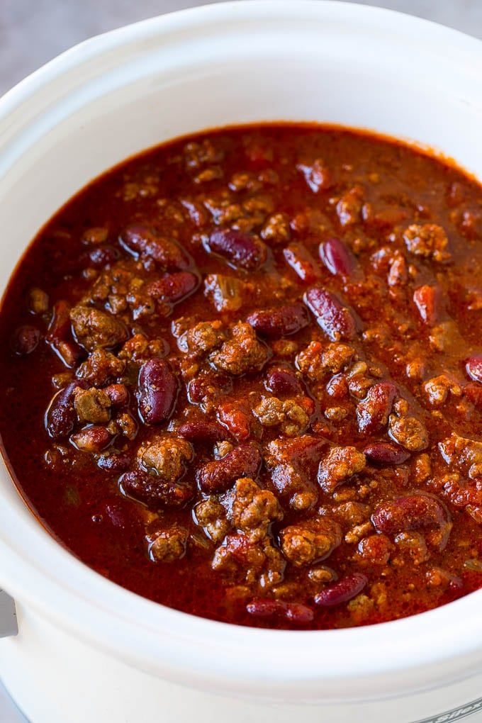 Slow Cooker Chili Recipe Crock Pot Chili Beef Chili Beef And Bean Chili Slow Cooker Chili Beef Chili Recipe With Kidney Beans Recipes With Kidney Beans