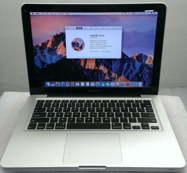 """MacBook Pro 13"""" Mid 2012 i5 2.5Ghz  4GB  500GB Mac OS Sierra"""