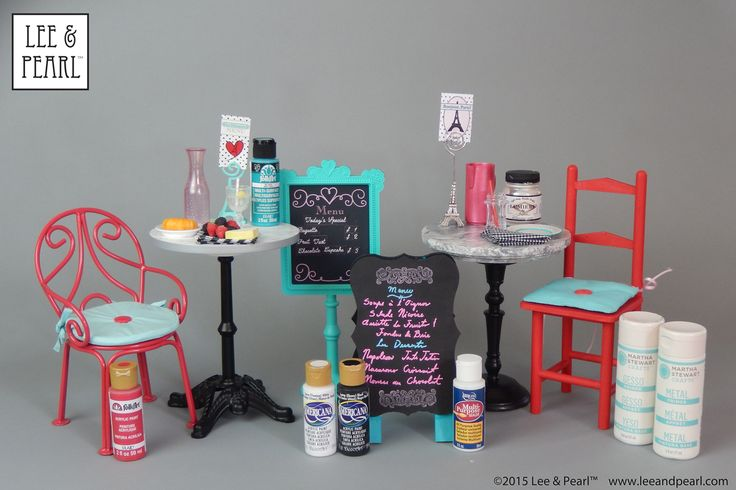 """Planning some DIY projects for 2015 American Girl® GOTY®? In this tutorial, Lee & Pearl craft-meister """"Lee"""" offers a detailed list of the SUPPLIES you need to perfectly prep and finish your DIY or found objects — and perfectly match your paint colors to the Grace Thomas® collection! Read all about it in the January 2015 newsletter in our Newsletter Archive at http://leeandpearl.com/newsletters.html"""