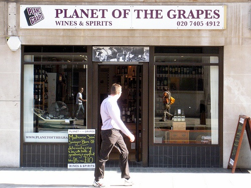 Planet of The Grapes. Pinterest wouldn't upload anything from their site so here's an article on them instead. Best wine shop in London, plus they do incredible tastings at their Bow Lane restaurant. This will change your life. See Awesome Prosecco for wines I've only drunk on their recommendation, and have always been back for more!
