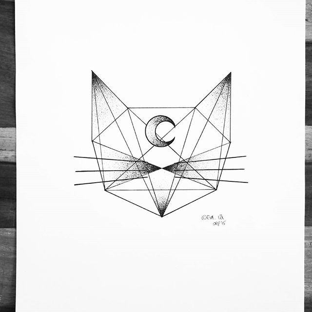 This kitten will be available as prints next month in my shop! #kitten #cat #catstagram #illustrator #illustration #drawing #sketch #linework #dotwork #minimal #design #moon #geometric #geometry #abstract #blackandwhite #blackworkers #blackwork #iblackwork #ink #pen #art #artist #artwork #instaart #instafollow #evasvartur #draw