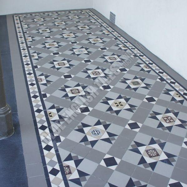 Olde English Tiles Australia - Westminster pattern with Norwood borde