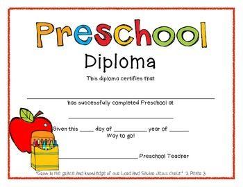 preschool diploma template free