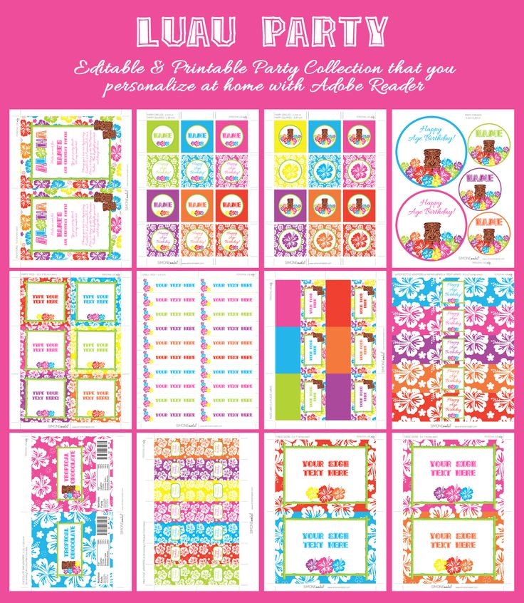 483 best Luau Hawaiian Birthday Party Ideas images – Hawaiian Party Invitations Printable