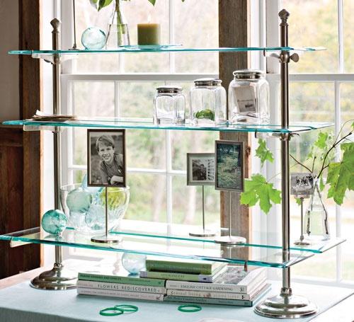 Glass Kitchen Shelves: Glass Bistro Shelving