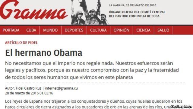 Fidel Castro: Discurso de Obama podría dar infarto