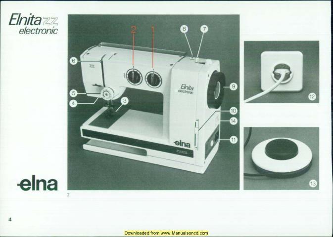 Elna Elnita Electronic ZZ Sewing Machine Manual Sewing Machine Best Elna Air Electronic Tsp Sewing Machine Manual