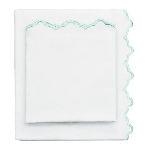Image of Mint Green Embroidered Sheet Set: beautifully designed bedding at an affordable price point