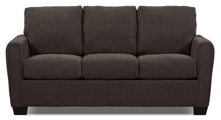 Spa Collection Chenille Full-Size Sofa Bed with Memory Foam Mattress – Charcoal…