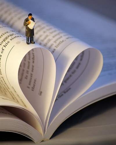 Little people love books by beanphoto, via Flickr
