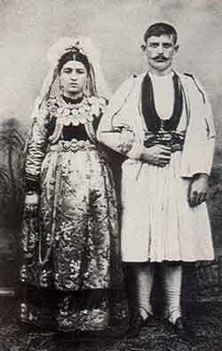 Νύφη και γαμπρός στη Σαμαρίνα 1907