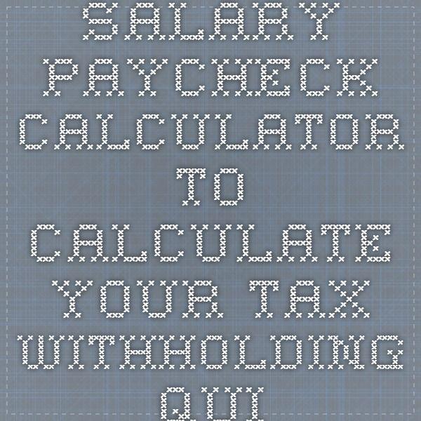 1000+ ιδέες για Employee Tax Calculator στο Pinterest - income tax calculator