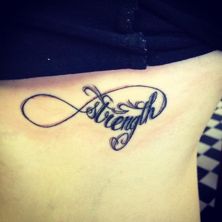 #infinity #strength #tattoo