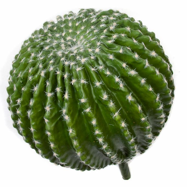 """** ARTIFICIAL CACTUS **  13"""" Plastic Barrel Cactus with Pinkish Flocked Needles  Natural Touch, Bare Stem  13"""" Overall Height 8.5"""" Cactus Height 4.5"""" Stem 11"""" Diameter  ITEM#A135830 email for price/minimum: sales @ displayit-info.com"""