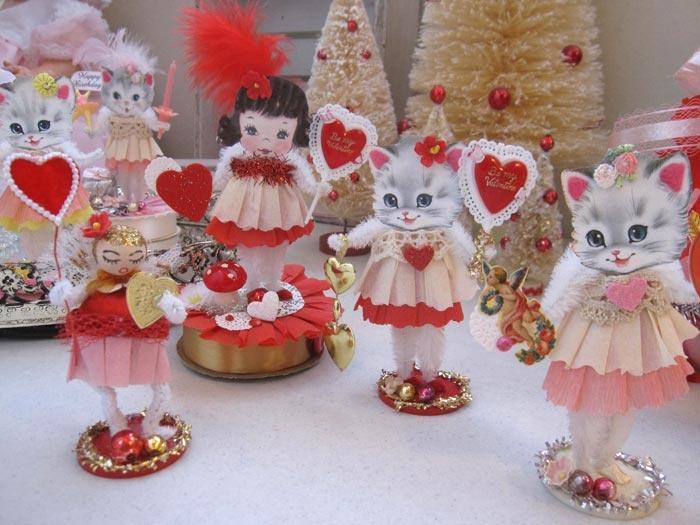 February Colors | Vintage valentine crafts, Vintage ...
