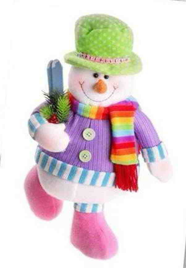Muñeco de nieve rosa