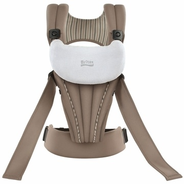 Britax Front Soft Baby Carrier - Tan. When it comes to carrying your baby, at BRITAX we know that the comfort of both parent and child are crucial. That's why BRITAX, the leader in child safety, has designed the BRITAX BABY CARRIER to provide the highest level of long-wearing comfort for both you and your growing baby. It features the CarryLong™ System, which reduces the risk of back and shoulder strain during extended wear by distributing weight across the shoulders, back and hips.