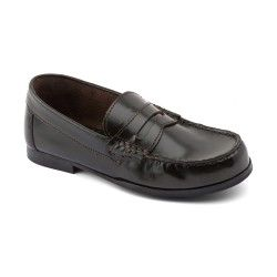 Boys School Shoes: Brown High Shine Leather Slip-on School shoes http://www.startriteshoes.com/boys-shoes/school-shoes