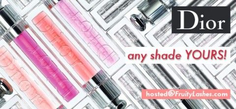 dior giveaway: Dior Giveaway, Fruitylashes, Dior Lipgloss, Dior Addict, Fruity Lashes