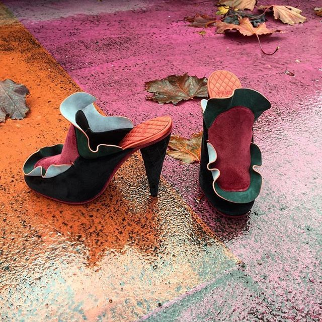 Prettiest Fall foliage - #FendiFW16 runway mules now available on fendi.com. #regram