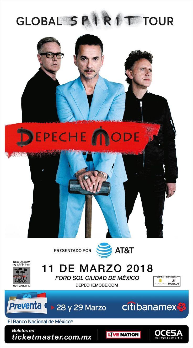 Depeche Mode acaba de confirmar su regreso a México con un concierto en el Foro Sol, como parte de su gira para su nuevo disco.