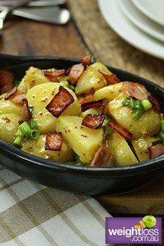 German Potato Salad Recipe. #PotatoSaladRecipes #HealthyRecipes #WeightLossRecipes weightloss.com.au