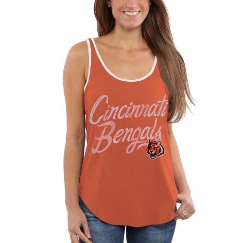 Cincinnati Bengals Junk Food Women's Roster Ringer Tank Top – Orange $32